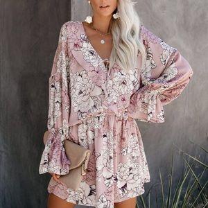 Vick floral ruffle dress